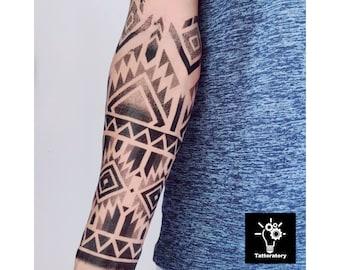 Temporary Tattoo Tribal Arm Tattoo Tribal Tattoo Tribal Fake