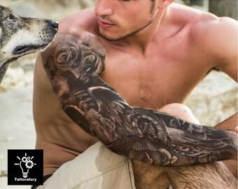 Temporary tattoo sleeve | Etsy