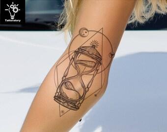 1a1d5d223 Geometric Temporary Tattoo Hipster Tattoo Fake Tattoo Geometric Tattoo  Large Tattoo Elbow Tattoo Forearm Tattoo Oberarm Tattoo Funnel Tattoo