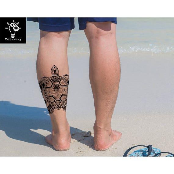 Tortue Tortue Tatouage Temporaire Tattoo Tortue Faux Tatouage Etsy