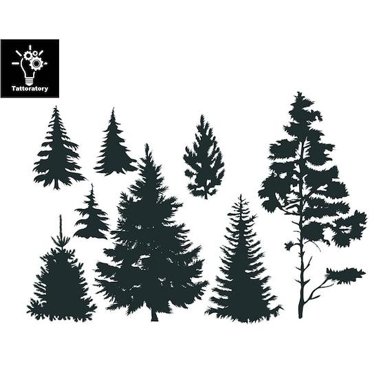 Drzewo Tymczasowy Tatuaż Drzewo Tatuaż Drzewo Sztuczne Tatuaż Etsy