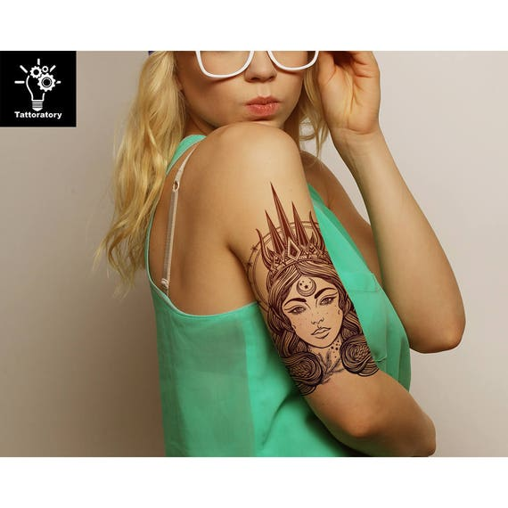 Fee Temporare Tattoo Fee Tattoo Fee Fake Tattoo Grosses Rucken Etsy