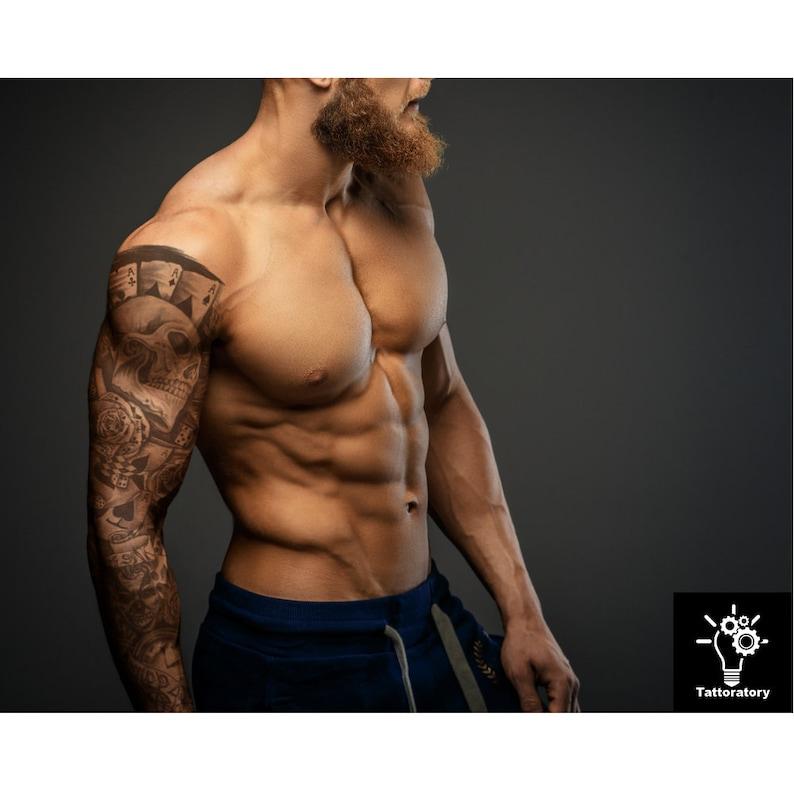 Mężczyźni Tymczasowy Tatuaż Rękaw Fake Tattoo Rękaw Dla Mężczyzn Pełny Arm Tymczasowy Tatuaż Mężczyźni Fake Tattoo Arm Men Faux Tatouage Temporaire