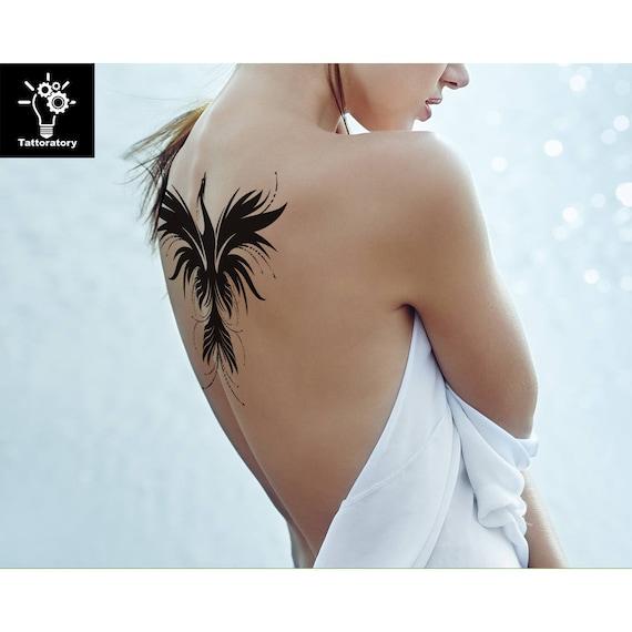 phoenix tatouage temporaire phoenix tatouage phoenix faux   etsy