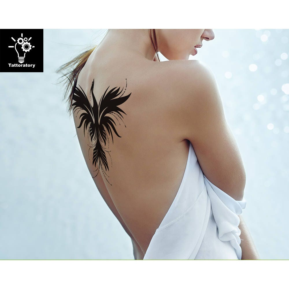 phoenix temporary tattoo phoenix tattoo phoenix fake. Black Bedroom Furniture Sets. Home Design Ideas