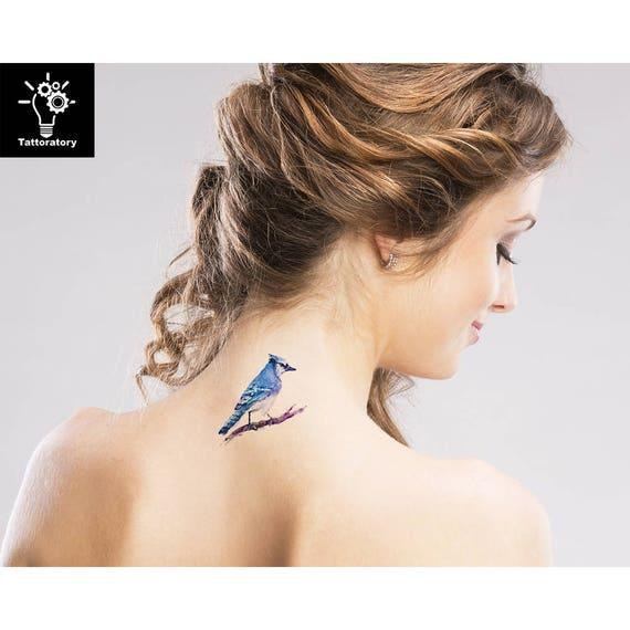 Aquarell Tattoo Vogel Temporare Tattoo Vogel Tattoo Aquarell Etsy