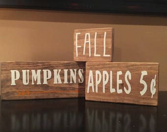 Fall Home Decor- Pumpkins, Apples, Hayrides, Corn, Fall Set
