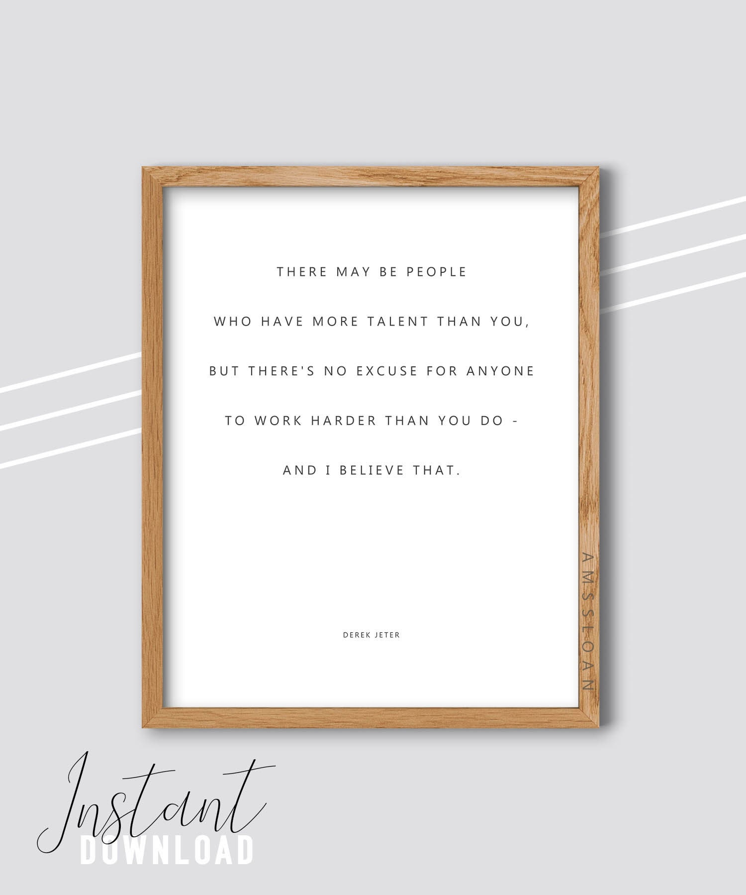 Derek Jeter Quote Print Inspirational Quote Motivational Etsy