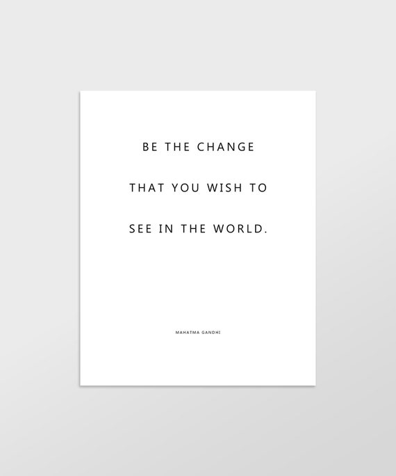 gandhi quote print printable wall art inspirational quote