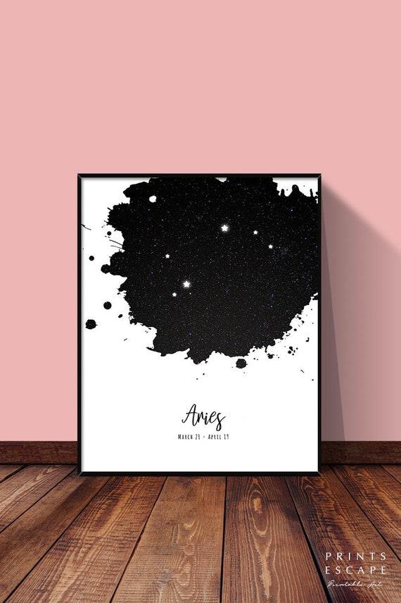 Aries print wall art Astronomy Space Star signe Cadeau a4 sans cadre