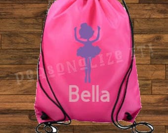 Personalized sports string bag / sports bag / your name / any sport / overnight bag
