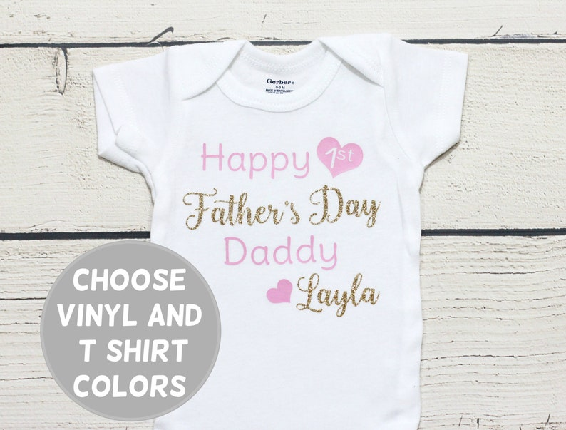 cca6d9a4f Personalized Father's Day onesie First Father's Day | Etsy