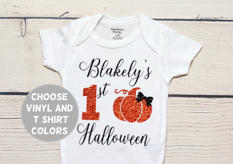 a644c4360 My first halloween onesie Personalized name onesie fall | Etsy