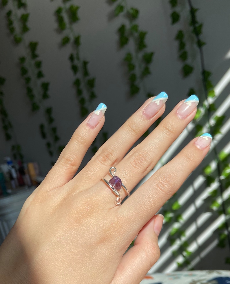 Crystal Ring with Silver Wiring