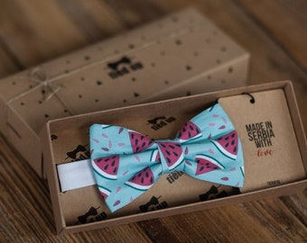 The Watermelon Bow tie, Watermelon bow tie for men,Watermelon women bow tie,Watermelon bow tie for kids, Fruit bow tie,Summer bow tie