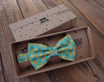 Pineapple Bow tie, Tie, Cufflinks, Pocket Square , Pineapple  bow tie for men, Pineapple women, Pineapple  bow tie for kids, Fruit bow tie.