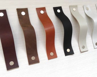 Leather Drawer pulls Door handles Leather drawer handles cupboard handles Kitchen handle Leather handles Leather pulls Wardrobe handles