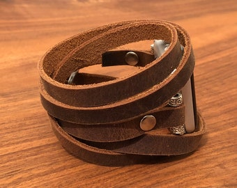 Apple Watch Band 38mm Women Leather Apple Watch Bracelet iWatch Band Apple Watch Strap Gift for Her Gift for Wife Gift for Mom Mothers Day