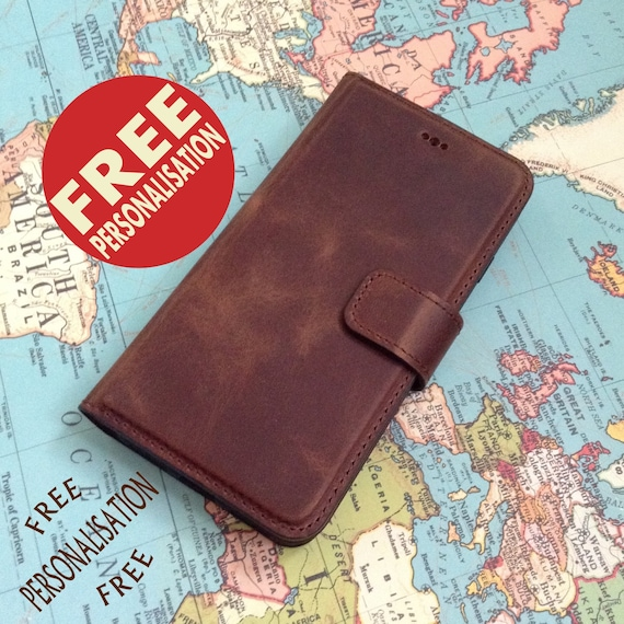 0a637ccfb7d39 Leather iPhone 6 plus Case Personalized Gift iPhone 8 Wallet