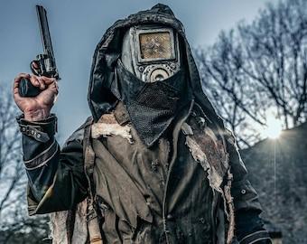 Post Apocalyptic Cyborg Helmet - Unique piece -