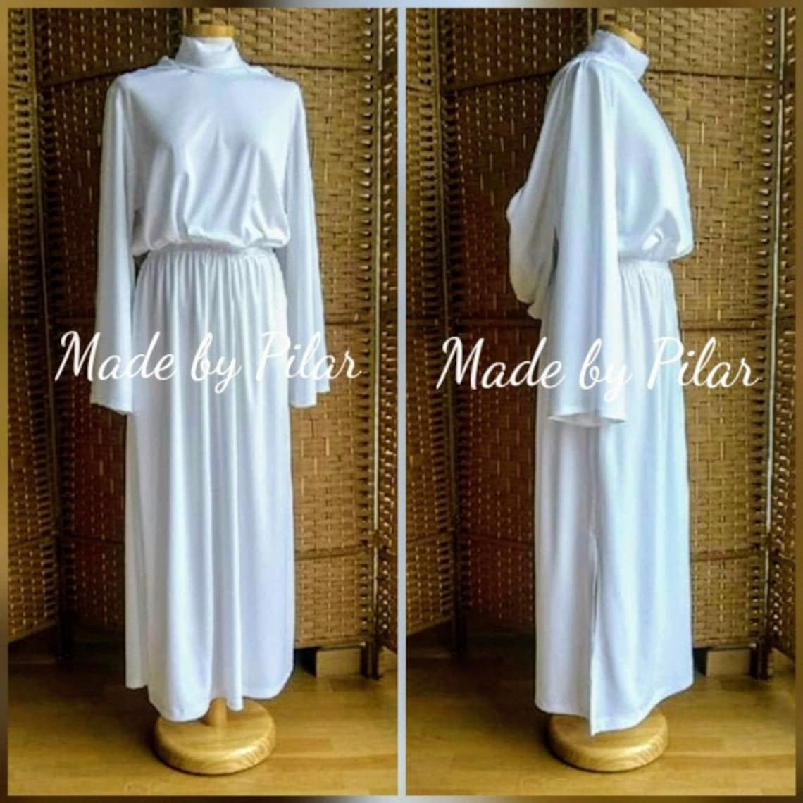 17. Leia senatorial cosplay, knit fabric, Leía dress (made to order and made to measure)
