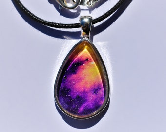 Sunset Galaxy Pendant - One of A Kind!