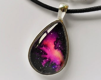 Pink Paradise Galaxy Pendant - One of A Kind!