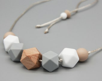 "Necklace/Still Chain ""Thelma"" Silicone Wood Jewelry"