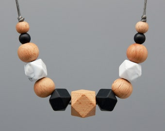 "Necklace/Still Chain ""Everest"" Silicone wood Jewelry"