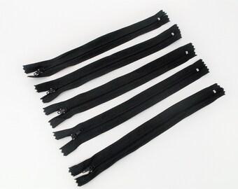5 Reißverschlüsse schwarz, 22cm