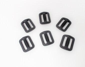 Versteller für 25mm Gurtband schwarz, 6 Stück