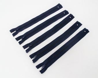 5 Reißverschlüsse blau, 22cm