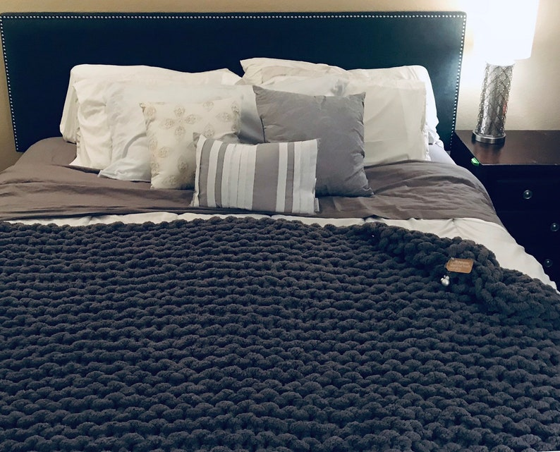 Bulky queen Baby full hand knit Handmade Chunky Blanket twin adult polyester king chenel yar arm knit Gifts homemade cal king
