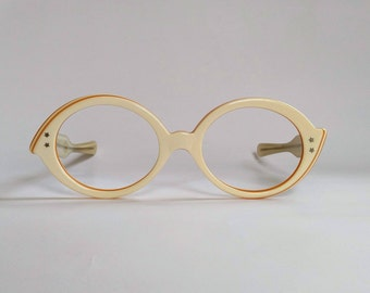 NOS, Vintage 1960s Layered Laminate Konoptic Eyeglasses by Kono USA