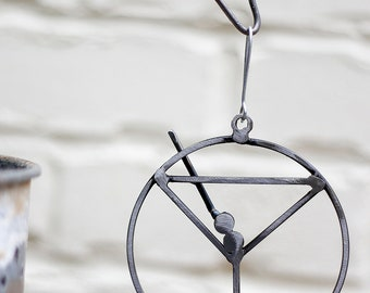 Steel Martini Glass Ornament or Charm