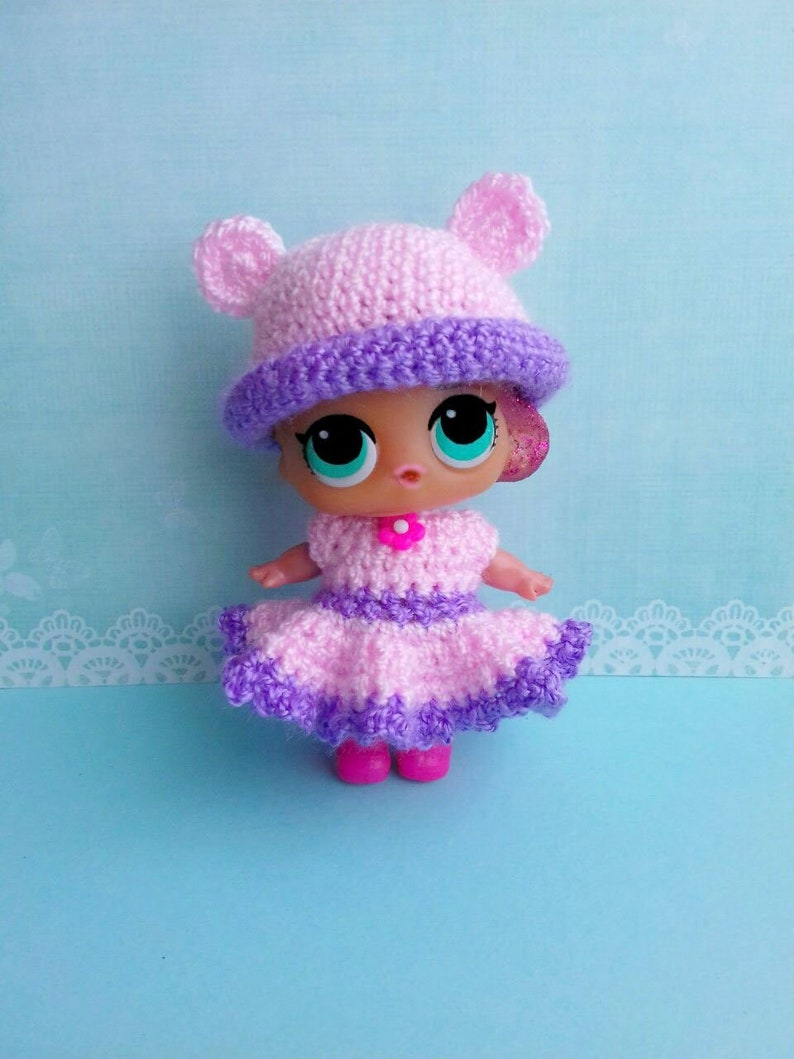 Lol Hat And Dress Set Crochet Miniature Dress And Hat For Lol Etsy
