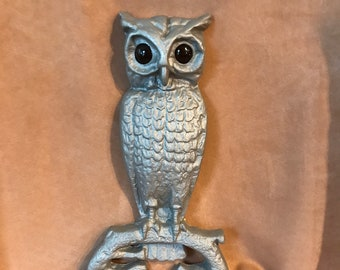 Cast Iron Owl with Amber Eyes