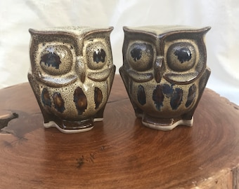 Ceramic Owl Pair