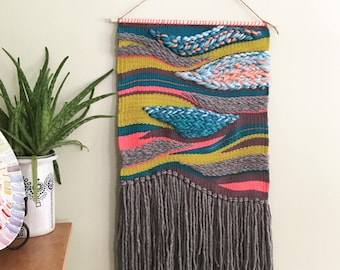 Acid Rain Woven Wall Hanging Tapestry Weaving