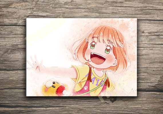 Momo Print March Comes In Like A Lion Anime Art Watercolor