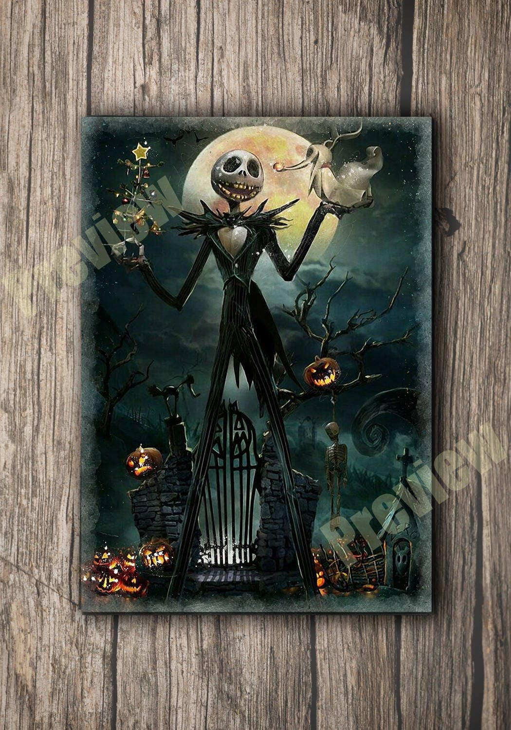 Jack Skellington from Nightmare Before Christmas Art Poster | Etsy