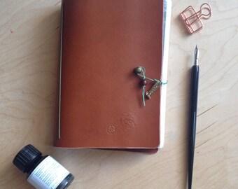 Unique leather Sketch Book A5