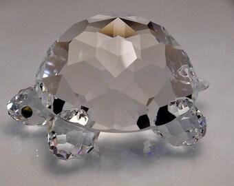 26903a19f SWAROVSKI Crystal Large Turtle Ornament Swarovski Tortoise Crystal ornament  Swarovski Turtle Vintage Swarovski Animals Silver Bay Crystals
