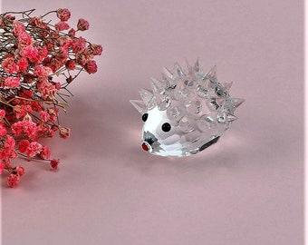 39699dd35 Crystal Baby Hedgehog Ornament Cut Glass RCR Lead Crystal Vintage swarovski  Animals Cut Glass RCR Lead Crystal Paperweight Anniversary Gift
