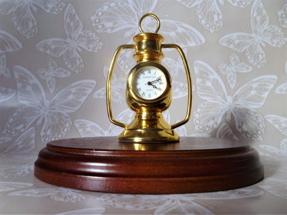 Dolls House 1:12 Scale Miniature  Ornament Gold Mantle Clock