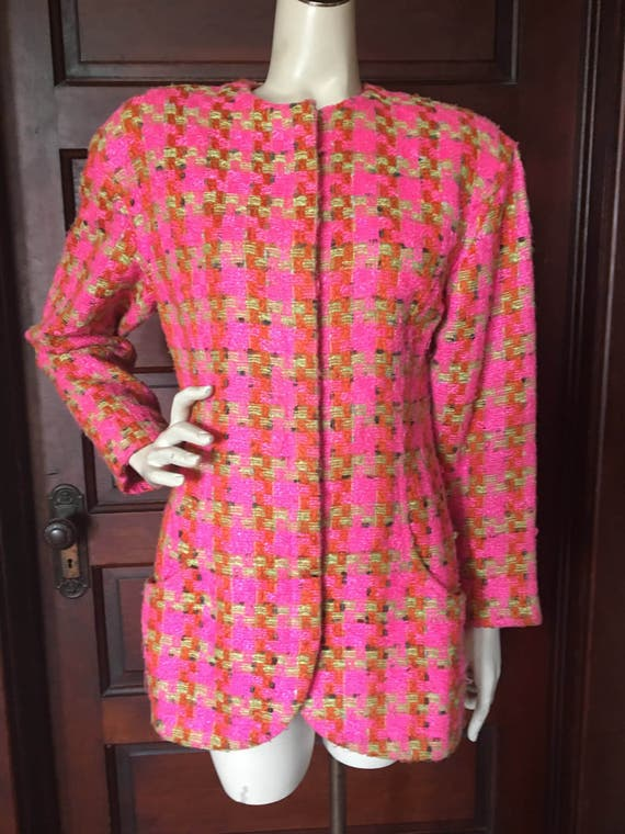 7ddbac1314e9 Vintage 80 s Ungaro Parallele Paris Long Jacket Made in