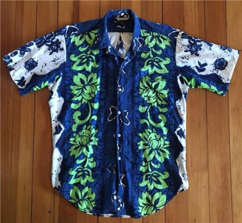 d0e84c99 Vintage Tropicana MEN'S HAWAIIAN SHIRT Size M Tropical | Etsy