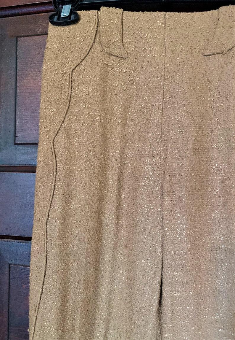 rodeo queen Tailored Western Wear tan light brown nubby linen Medium sz FREE Shipping! Vintage 40/'s 50/'s Ladies Western slacks cowgirl