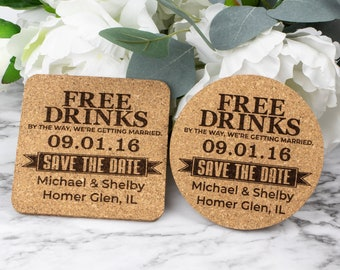 Unique Wedding Save The Date Funny Drinks Save The Dates Vine Glass Save The Date Magnet Wedding Invitation Free Drinks Save The Date