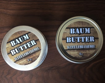 Baum Butter! Handmade Wood Conditioner for Wood Maintenance on Cutting Boards, Kitchen Utensils and more.